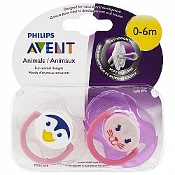 אוונט מוצץ חיות טרומן 0-6 חודשים 2 יחידות - מבית Philips Avent