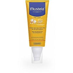 """מוסטלה תחליב להגנה גבוהה מאוד מהשמש SPF50 לתינוקות וילדים 200 מ""""ל - מבית Mustela"""