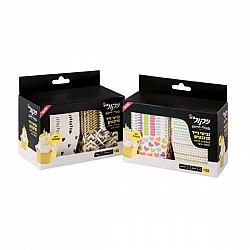 ניקול גביעי נייר מרובעים עם דופן מתקפלת לקאפקייק, מאפין ומאפה אישי - 22 יחידות