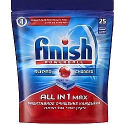 פיניש ALL IN 1 MAX טבליות מדיח 25 יחידות - מבית FINISH