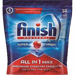 פיניש ALL IN 1 MAX טבליות מדיח 50 יחידות - מבית FINISH