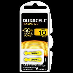 דורסל סוללות למכשירי שמיעה 10 - 6 יחידות - מבית Duracell