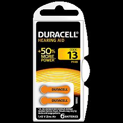 דורסל סוללות למכשירי שמיעה 13 - 6 יחידות - מבית Duracell