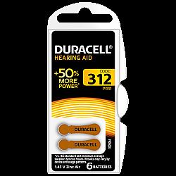 דורסל סוללות למכשירי שמיעה 312 - 6 יחידות - מבית Duracell