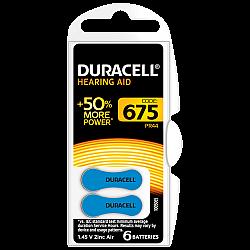 דורסל סוללות למכשירי שמיעה 675 - 6 יחידות - מבית Duracell