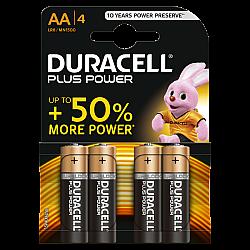 דורסל פלוס פאוור - סוללות AA - רביעייה Plus Power - מבית Duracell