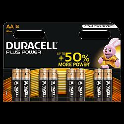 דורסל פלוס פאוור Plus Power - סוללות AA אריזת 8 יחידות - מבית Duracell