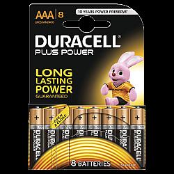 דורסל PLUS POWER סוללות AAA אריזת 8 יחידות - מבית Duracell