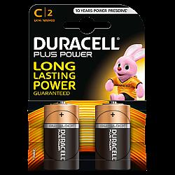 דורסל PLUS POWER סוללות C אריזת 2 יחידות - מבית Duracell