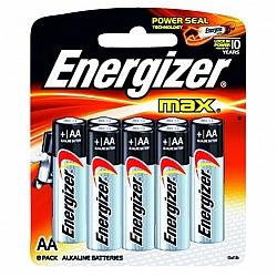 אנרג'ייזר סוללות מקס AA - אריזה 8 יחידות - מבית Energizer