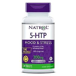 """5-HTP הידרוקסי-טריפטופאן 200 מ""""ג - 30 טבליות - מבית NATROL"""