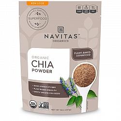 אבקת זרעי הצ'יה אורגני 227 גרם - מבית Navitas Organics