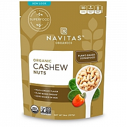 אגוזי קשיו אורגני 227 גרם - מבית Navitas Organics