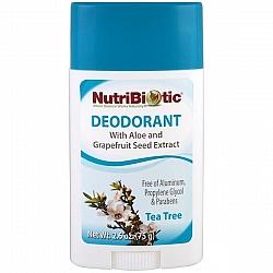 דאודורנט סטיק עץ התה עם תמצית זרעי אשכוליות נוטריביוטיק 75 גרם - מבית NutriBiotic
