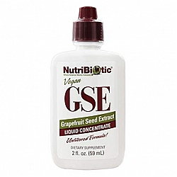 "GSE תמצית זרעי אשכוליות טבעוני נוטריביוטיק 59 מ""ל - מבית NutriBiotic"