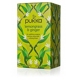 פוקה חליטות תה צמחים למון גראס וג'ינג'ר 20 שקיקים - מבית Pukka Herbs