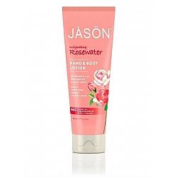 ג'ייסון קרם גוף וידיים מי ורדים 227 גרם - מבית JASON