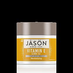 """ג'ייסון קרם לחות עם ויטמין E ריכוז 5000 יחב""""ל 113 גרם - מבית JASON"""