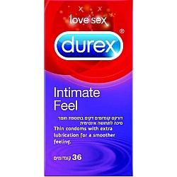דורקס קונדומים דקים INTIMATE FEEL בתוספת חומר סיכה לתחושה אינטימית 36 יחידות - מבית DUREX
