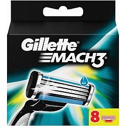 ג'ילט מאך 3 סכיני גילוח רב פעמיים 8 סכינים - מבית Gillette