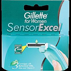 ג'ילט סנסור אקסל סכיני גילוח רב פעמיים לנשים 5 סכנים - מבית Gillette