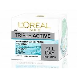 """לוריאל ג'ל קרם לחות פעולה משולשת פרש לעור רגיל עד מעורב 50 מ""""ל - מבית L'OREAL PARIS"""