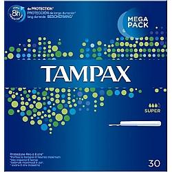 טמפקס טמפונים עם מוליך סופר 30 יחידות - מבית TAMPAX