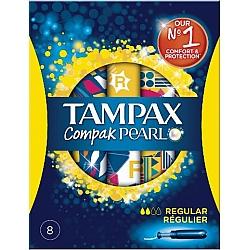 טמפקס טמפונים קומפאק פרל עם מוליך רגולר 8 יחידות - מבית TAMPAX