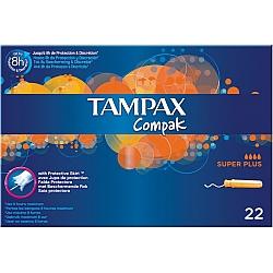 טמפקס קומפאק טמפונים עם מוליך סופר פלוס 22 יחידות - מבית TAMPAX