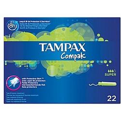 טמפקס קומפאק טמפונים עם מוליך סופר 22 יחידות - מבית TAMPAX