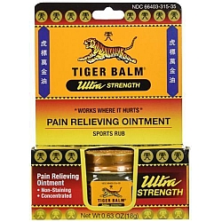 טייגר באלם חזק משחה להקלה זמנית של כאבי שרירים 18 גרם - מבית Tiger Balm