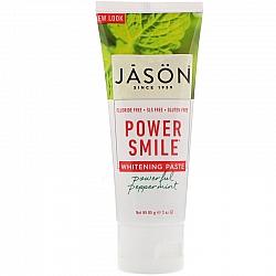 ג'ייסון משחת שיניים מנטה עוצמתית ללא פלואריד ללא SLS ללא חומרים משמרים 85 גרם - מבית JASON