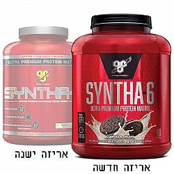 """סינטה 6 אבקת תשלובת חלבונים SYNTHA 6 בטעם קרם עוגיות משקל 2.27 ק""""ג - מבית BSN"""