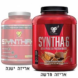 """סינטה 6 אבקת תשלובת חלבונים SYNTHA 6 בטעם שוקולד חמאת בוטנים משקל 2.27 ק""""ג - מבית BSN"""