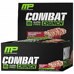 חטיף חלבון מאסל פארם קומבט בטעם פטל שוקולד לבן 63 גרם - 12 יחידות - מבית MusclePharm