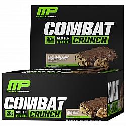 חטיף חלבון מאסל פארם קומבט בטעם צ'יפס שוקולד 63 גרם - 12 יחידות - מבית MusclePharm