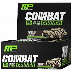 חטיף חלבון מאסל פארם קומבט בטעם קוקוס שוקולד 63 גרם - 12 יחידות - מבית MusclePharm