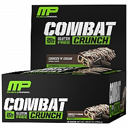 חטיף חלבון מאסל פארם קומבט בטעם קרם עוגיות 63 גרם - 12 יחידות - מבית MusclePharm