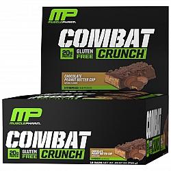 חטיף חלבון מאסל פארם קומבט בטעם שוקולד חמאת בוטנים 63 גרם - 12 יחידות - מבית MusclePharm