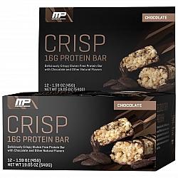 חטיף חלבון מאסל פארם קריספ בטעם שוקולד 45 גרם - 12 יחידות - מבית MusclePharm