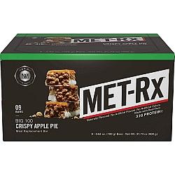חטיפי חלבון ביג 100 מטריקס BIG 100 בטעם עוגת תפוחים 9 יחידות - מבית MET-Rx