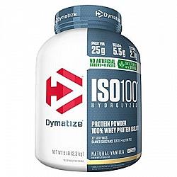 """אבקת חלבון איזו 100 דיימטייז ISO100 Hydrolyzed בטעם וניל טבעי 2.3 ק""""ג - מבית Dymatize Nutrition"""