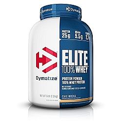 """אבקת חלבון וואי אליט דיימטייז Whey Elite בטעם קפה מוקה 2.27 ק""""ג - מבית Dymatize Nutrition"""