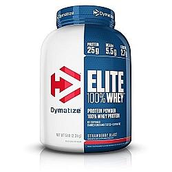"אבקת חלבון וואי אליט דיימטייז Whey Elite בטעם תות 2.27 ק""ג - מבית Dymatize Nutrition"