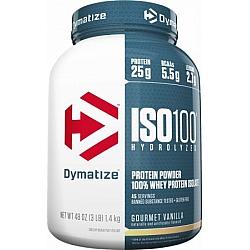 """אבקת חלבון איזו 100 דיימטייז ISO 100 בטעם וניל 1.4 ק""""ג - מבית Dymatize Nutrition"""