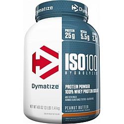 """אבקת חלבון איזו 100 דיימטייז ISO 100 בטעם חמאת בוטנים 1.4 ק""""ג - מבית Dymatize Nutrition"""