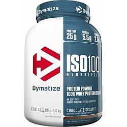 """אבקת חלבון איזו 100 דיימטייז ISO 100 בטעם קוקוס שוקולד 1.4 ק""""ג - מבית Dymatize Nutrition"""