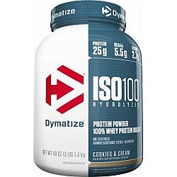 """אבקת חלבון איזו 100 דיימטייז ISO 100 בטעם קרם עוגיות 1.4 ק""""ג - מבית Dymatize Nutrition"""