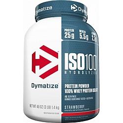 """אבקת חלבון איזו 100 דיימטייז ISO 100 בטעם תות 1.4 ק""""ג - מבית Dymatize Nutrition"""