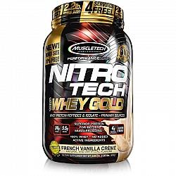 חלבון מי גבינה Whey Gold ניטרו טק מאסל טק טעם וניל משקל 999 גרם - מבית MuscleTech